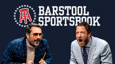 Big Cat and Dave Portnoy with the Barstool Sportsbook logo